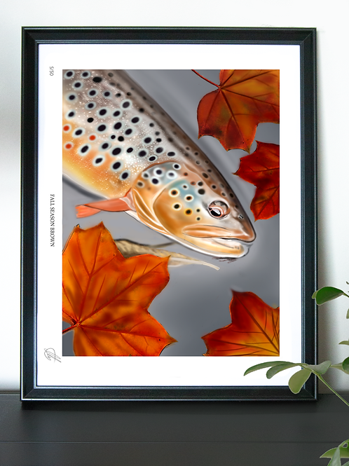 (Limited Edition) ''Fall Season Brown'' Poster