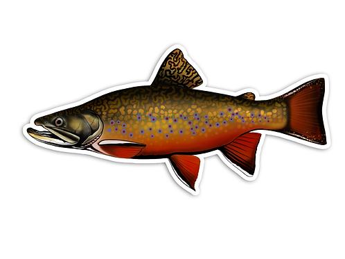 Trophy Brook Trout - Waterproof Sticker