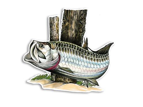 Tarpon Illustration - Waterproof Sticker