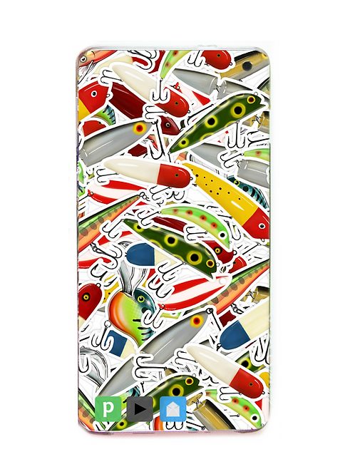 Digital Wallpaper Cover - (Lures & Spoons) Stickerbomb Theme