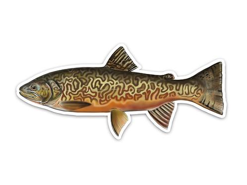 Tiger Trout - Waterproof Sticker