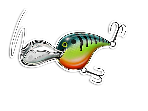 Crankbait - Waterproof Sticker
