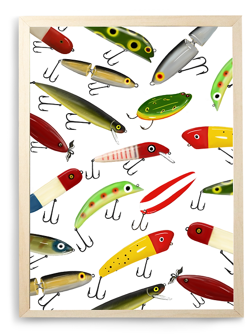 Classic Lures Poster - Print