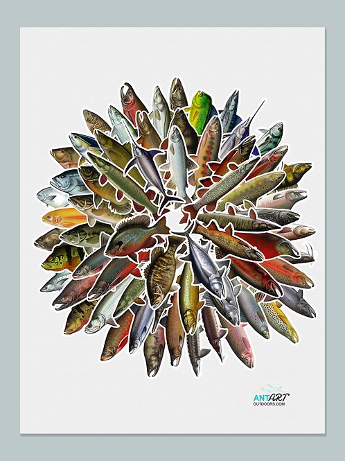 Fish Wheel - Poster