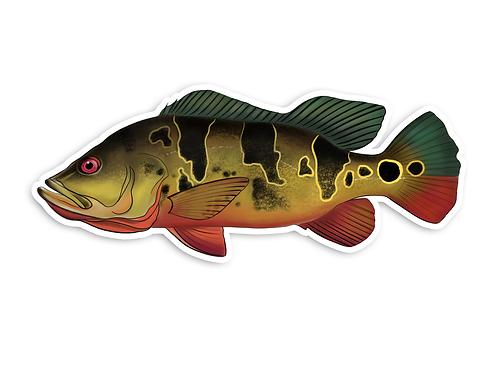 Peacock Bass (Female) - Waterproof Sticker