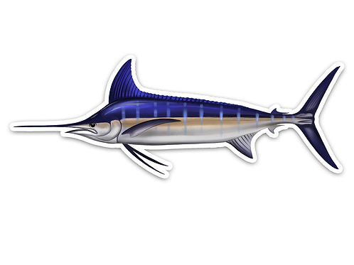 Blue Marlin - Waterproof Sticker