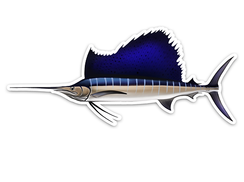 Sailfish - Waterproof Sticker