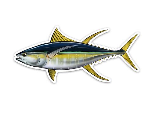 Yellowfin Tuna - Waterproof Sticker