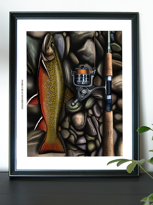 Pebble Beached Brookie - Poster