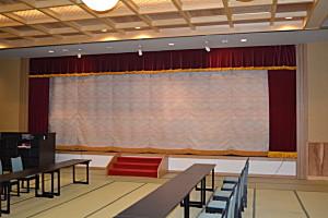 【温泉・旅館・ホテル】横掘温泉 紫雲閣 様(秋田県湯沢市)緞帳一式