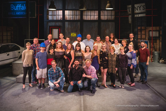 The cast of The Full Monty