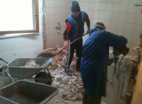 Duschen werden saniert