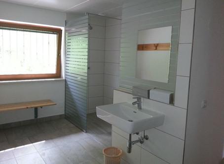 Sanitären Einrichtungen fertig gestellt