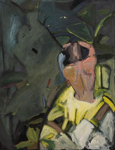 Adam, 2020, oil on canvas, 22x 28
