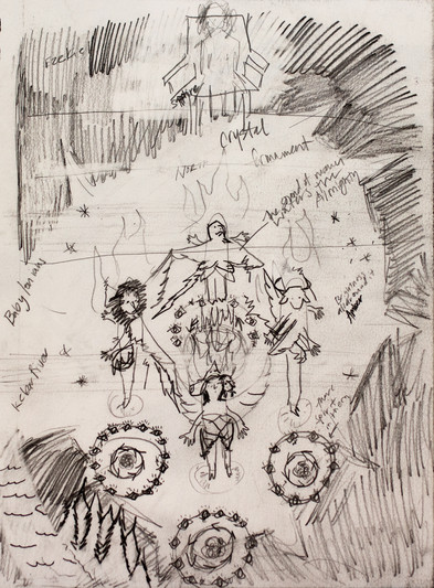 Ezekiel, 2020, graphite on paper, 8x 10