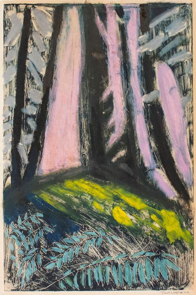 Forest Floor, 2018, Monotype, ink on cotton rag paper, 12.25 x 18.5