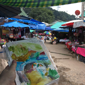 Hmong village in Thailand