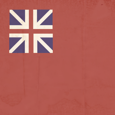 Aged Fort Bedford Flag