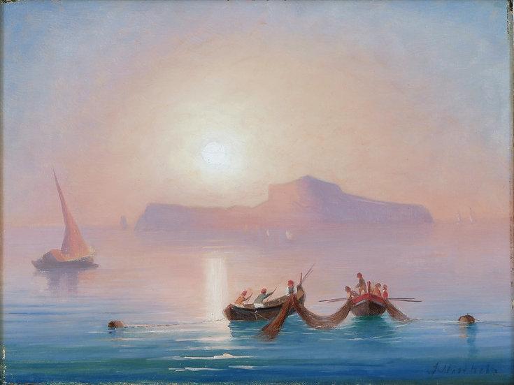 Sonnenuntergang vor Capri