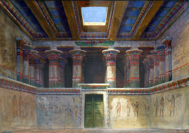 Innenansicht eines ägyptischen Tempels