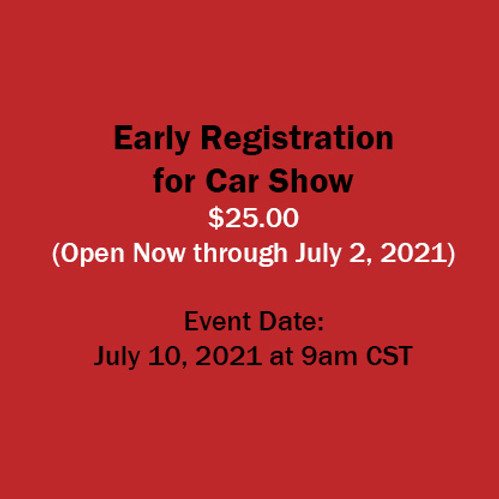 Early Registration for Car Show