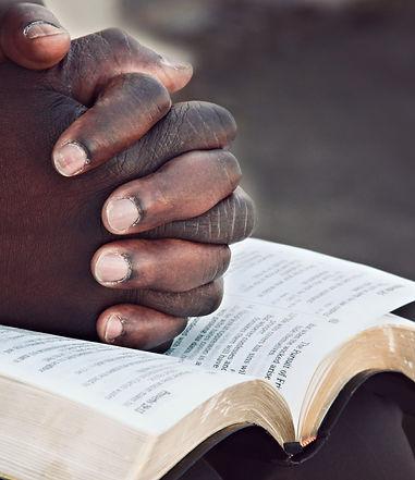 Hands of Prayer Christian Stock Image.jp