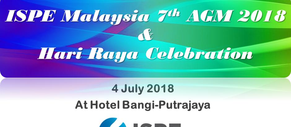 ISPE Malaysia 7th AGM & Hari Raya Celebration 2018