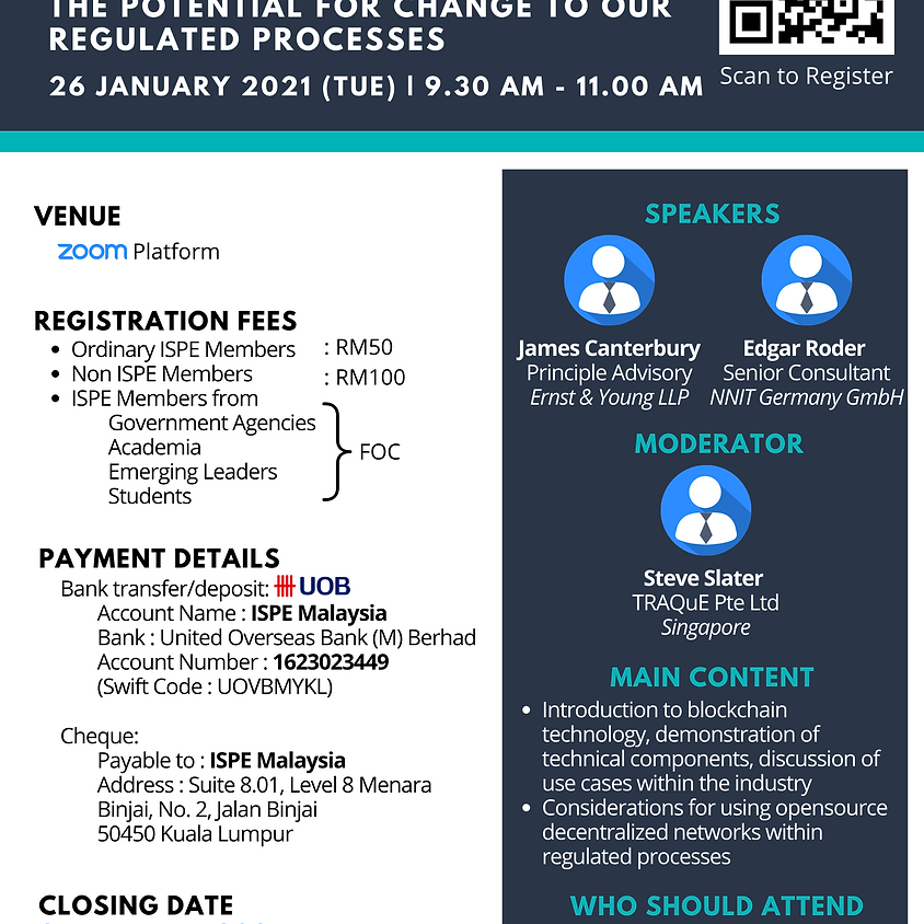 [2021 ISPE Webinar Series] Blockchain for Pharmaceutical Engineers