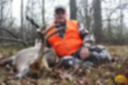 10 pt. Illinois whitetail deer and client
