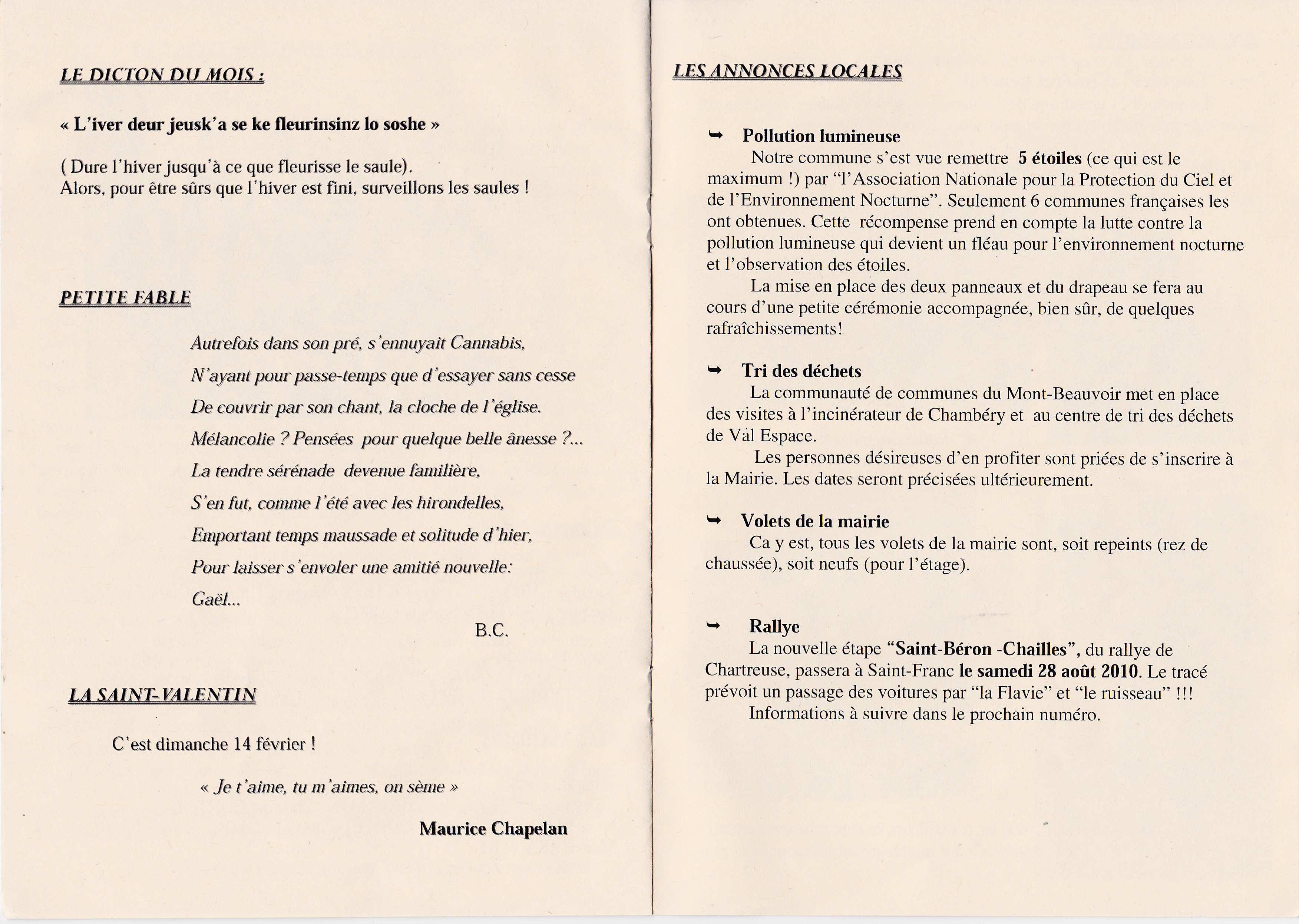 LPS n° 5 - Pages 10 & 11