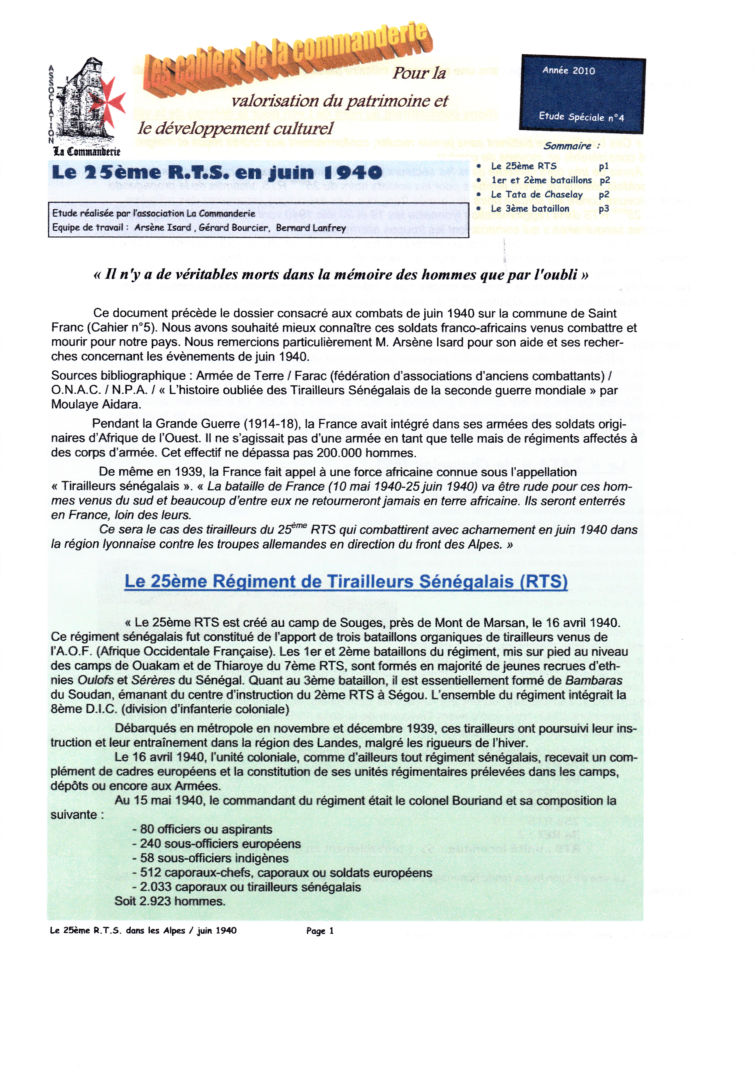 25eme RTS - Page 1