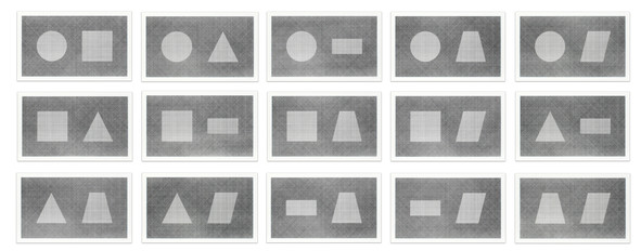 Six Geometric Figures & All Their Combinations (in pairs)