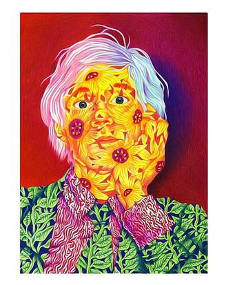 Colored Pencil Andy Warhol Portrait