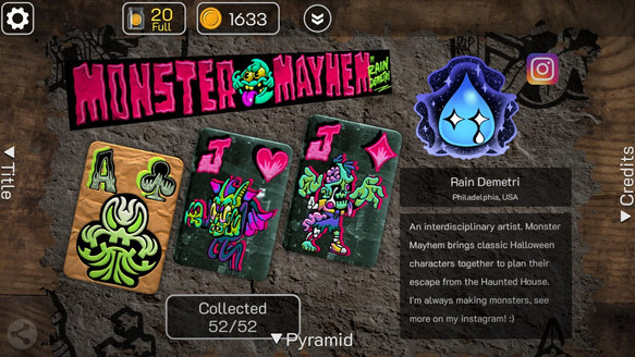 "Flick Solitaire, ""Monster Mayhem"" Gameplay"