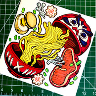 Ramen Bowl in Ink and Marker