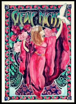 Stevie Nicks Watercolor Poster