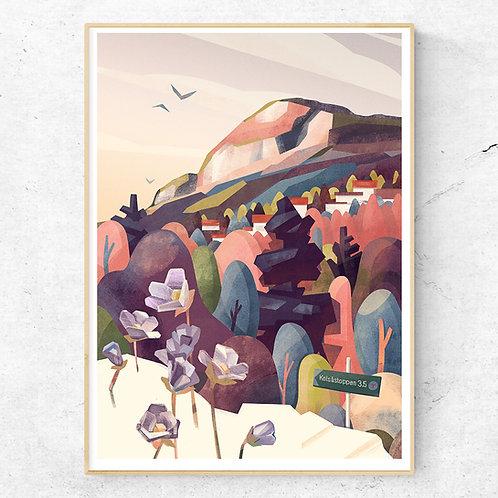 Kolsåstoppen Poster 50x70 cm