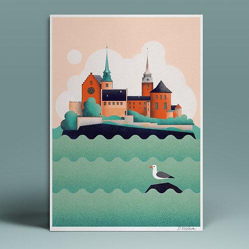 Akershus Fortress Poster 22x31 cm