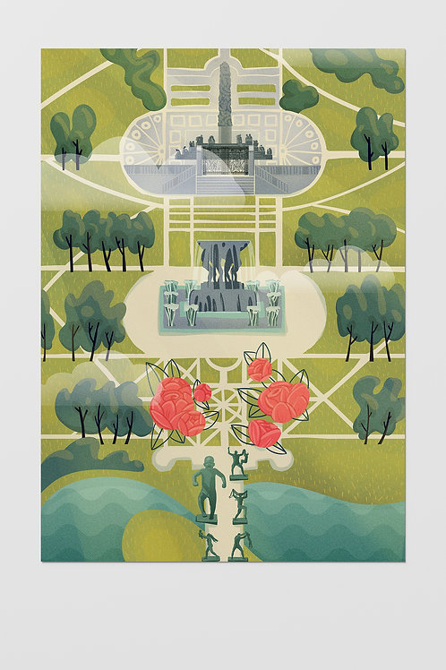 Oslo Frogner Park Poster A3