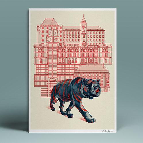 Tigerstaden Poster 22x31 cm