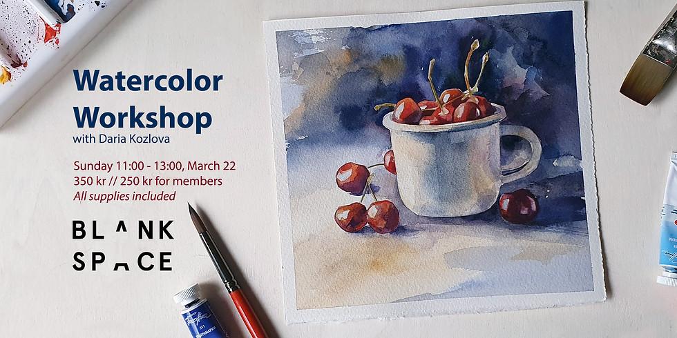 Watercolor Workshop: Cherries