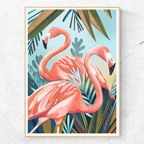 Flamingo Poster 50x70 cm