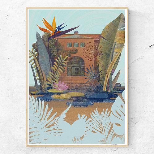 Oslo Botanical Garden Poster 50x70 cm