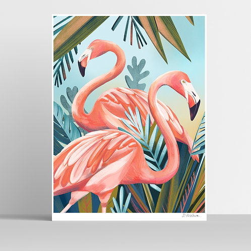Pink Flamingo Poster 31x41 cm