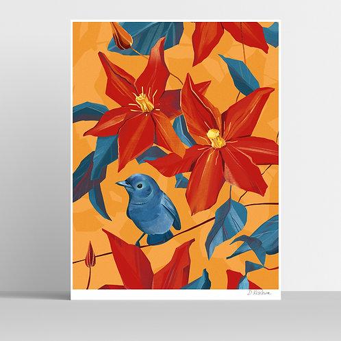 Blue Bird Poster 31x41 cm