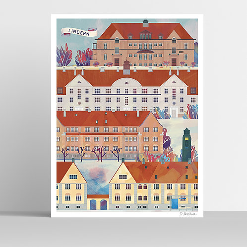 Lindern Poster 31x41 cm