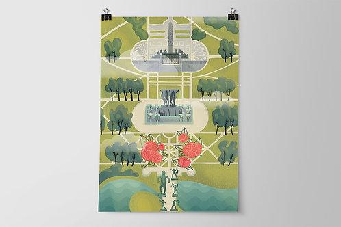 Oslo Frogner (Vigeland) Park Poster A2