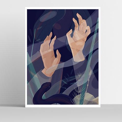 Through the Fog Poster 31x41 cm