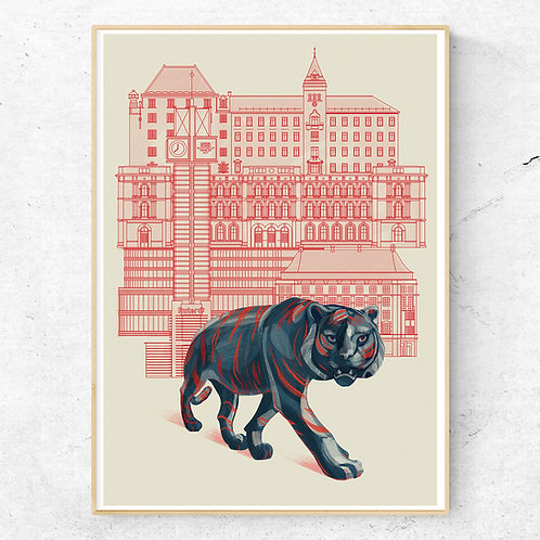 Jernbanetorget (Oslo) Poster 50x70 cm