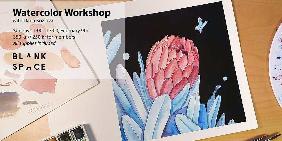 Watercolor Workshop: Protea Flower